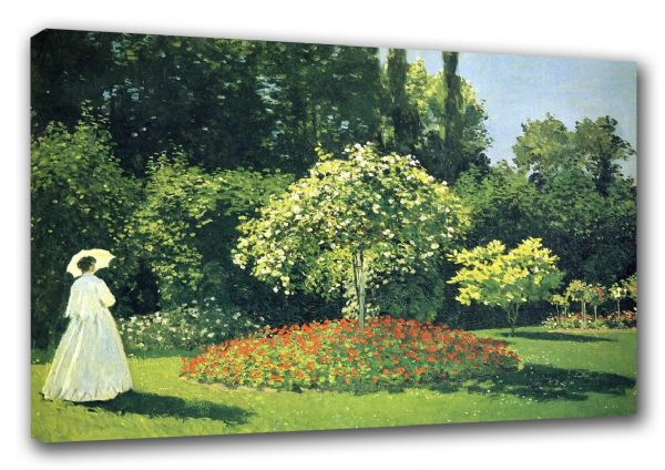 Monet, Claude: Jeanne Marie Lecadre in the Garden. Fine Art Canvas. Sizes: A3/A2/A1 (003221)